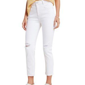 ANTHROPOLOGIE PILCRO High Rise Slim White Jeans 32
